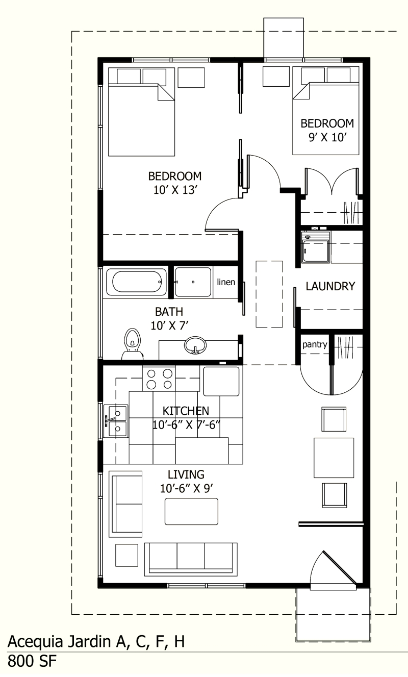 Small cottage house plans under 800 sq ft penitent28ikx for Small house blueprints
