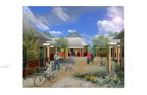 Example of what homes and courtyard will look like.